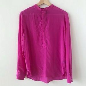 POLO by Ralph Lauren silk pink half button